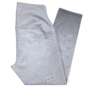 Alo gray light ombre cropped leggings. Size XS